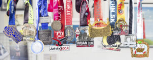 Collection of 13 Race medals collected over 2017