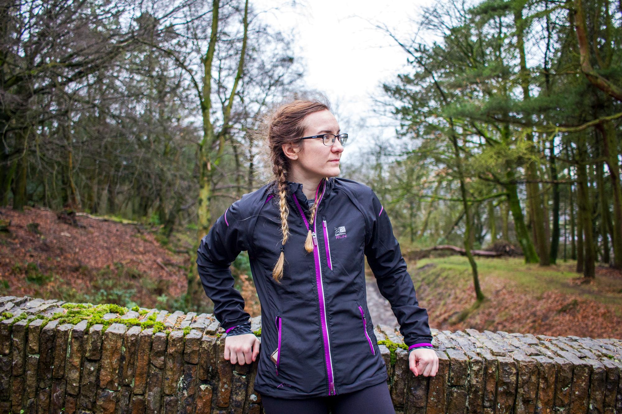 How To Keep Running When The Weather Sucks | Girl in Rain Jacket | awaywithkatie.com