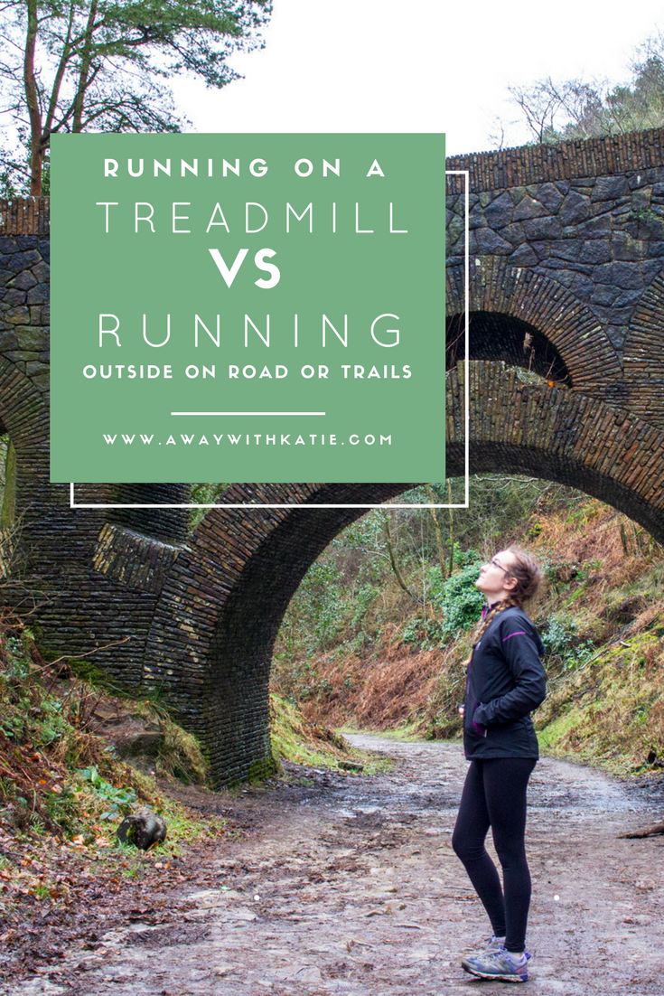 Running on a Treadmill Vs Running Outside on Roads or Trails | Looking at the positives for each one. Which do you prefer? | awaywithkatie.com