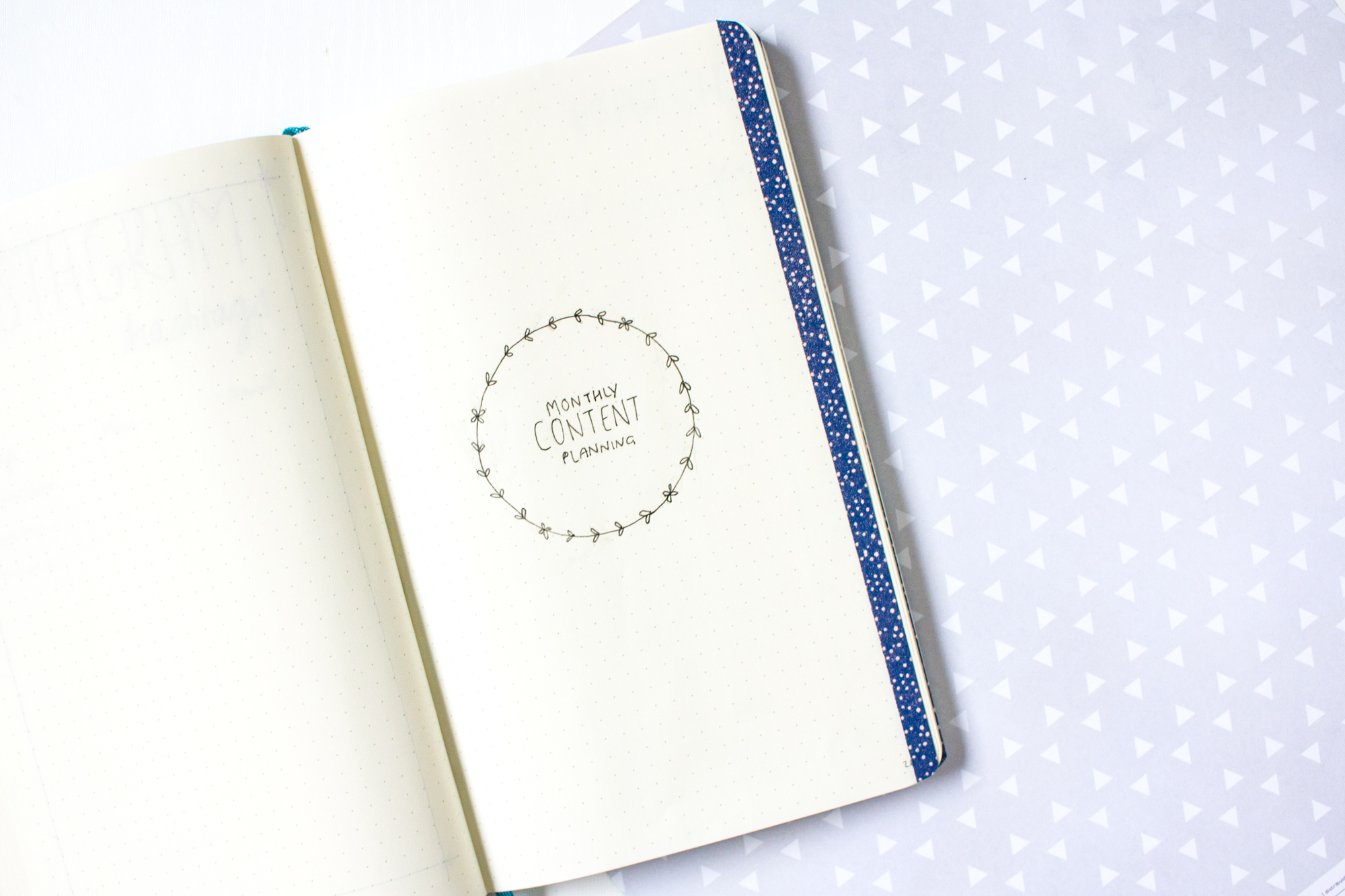 5 Pages to Add to Your Blogger Bullet Journal | Content Planning | awaywithkatie.com