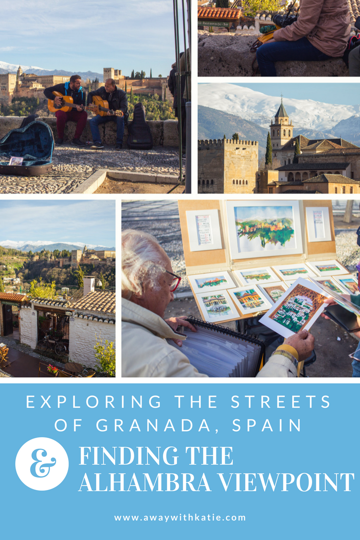 Exploring the Streets of Granada and Finding The Alhambra Viewpoint | Granada offers so much history, beautiful views and a buzzing city thanks to the university and local bars | awaywithkatie.com