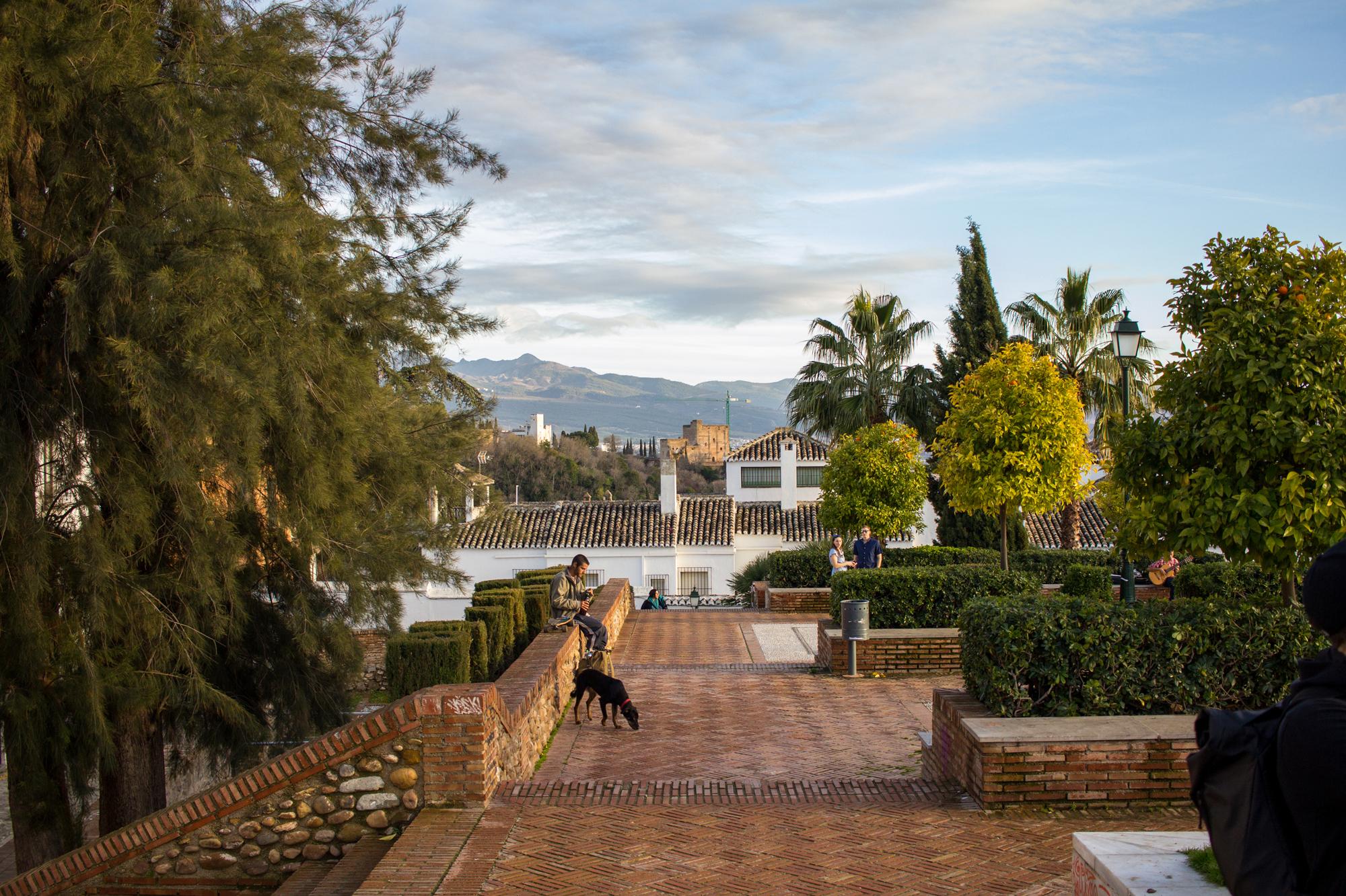 Exploring the Streets of Granada | Garden Park | awaywithkatie.com