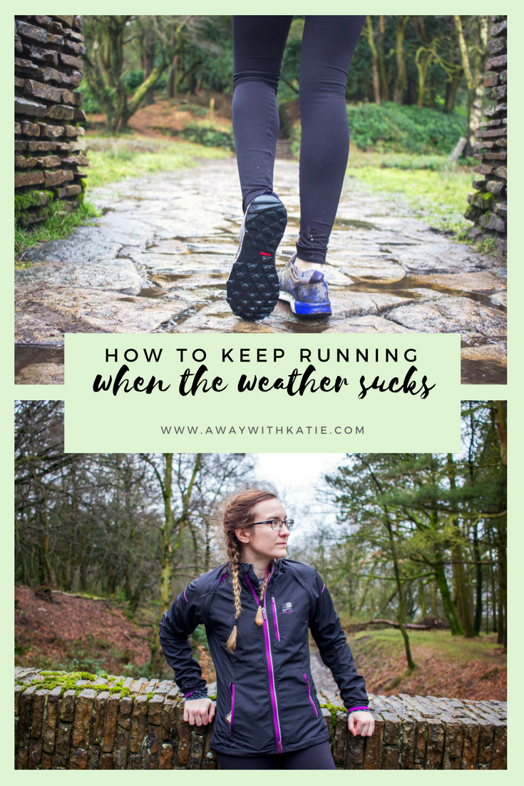 How To Keep Running When The Weather Sucks | Tips on winter running kit, inspiration and how to get that motivation. | awaywithkatie.com