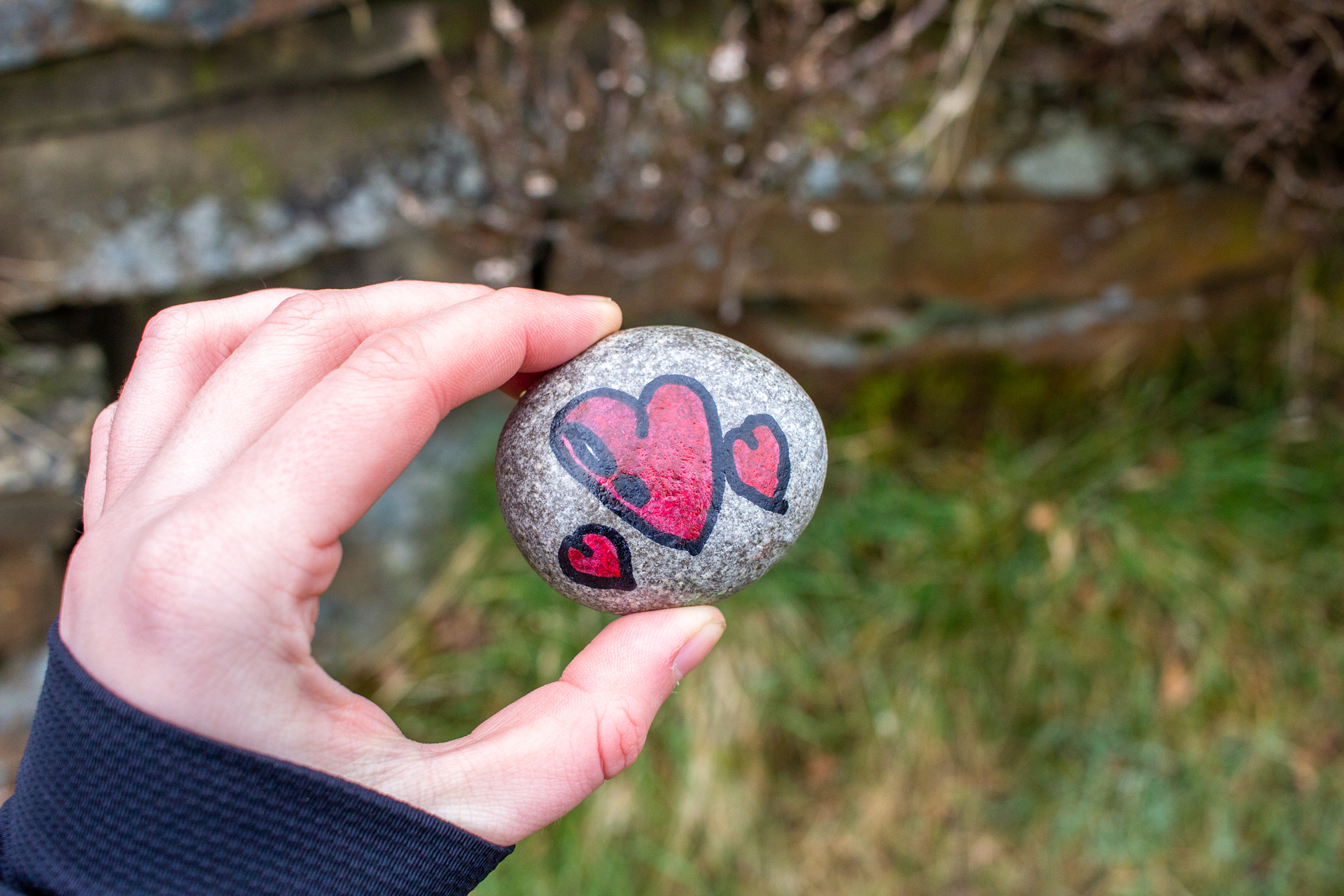 Small Rock With Pained Hearts | Getting Outside And Keeping It Real | awaywithkatie.com