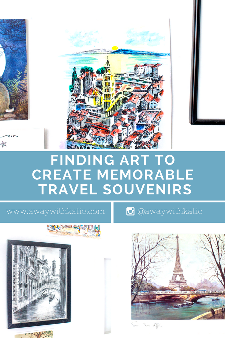 Finding Art to Create Memorable Travel Souvenirs | awaywithkatie.com | There's something special about bringing home something that represents your adventures. Something that works as a memory holder for a specific place and time. My favourite type of travel souvenir is something arty. A visual representation of where I've been.