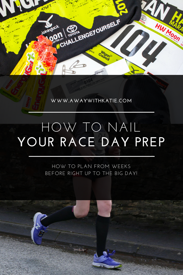 How To Nail Your Race Day Prep | HOW TO PLAN FROM WEEKS BEFORE RIGHT UP TO THE BIG DAY! | awaywithkatie.com