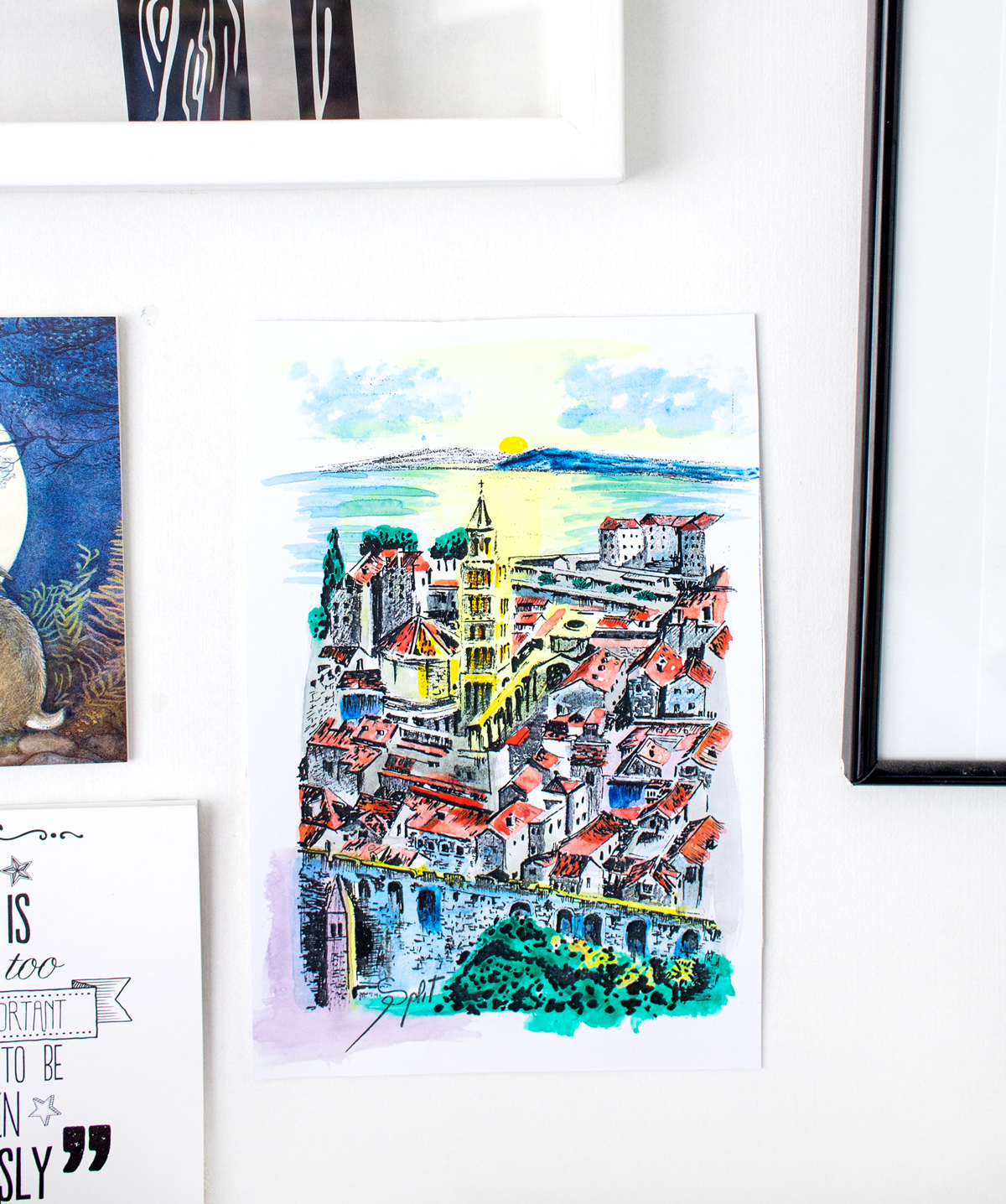 Finding Art to Create Memorable Travel Souvenirs | Landscape View of Split | awaywithkatie.com