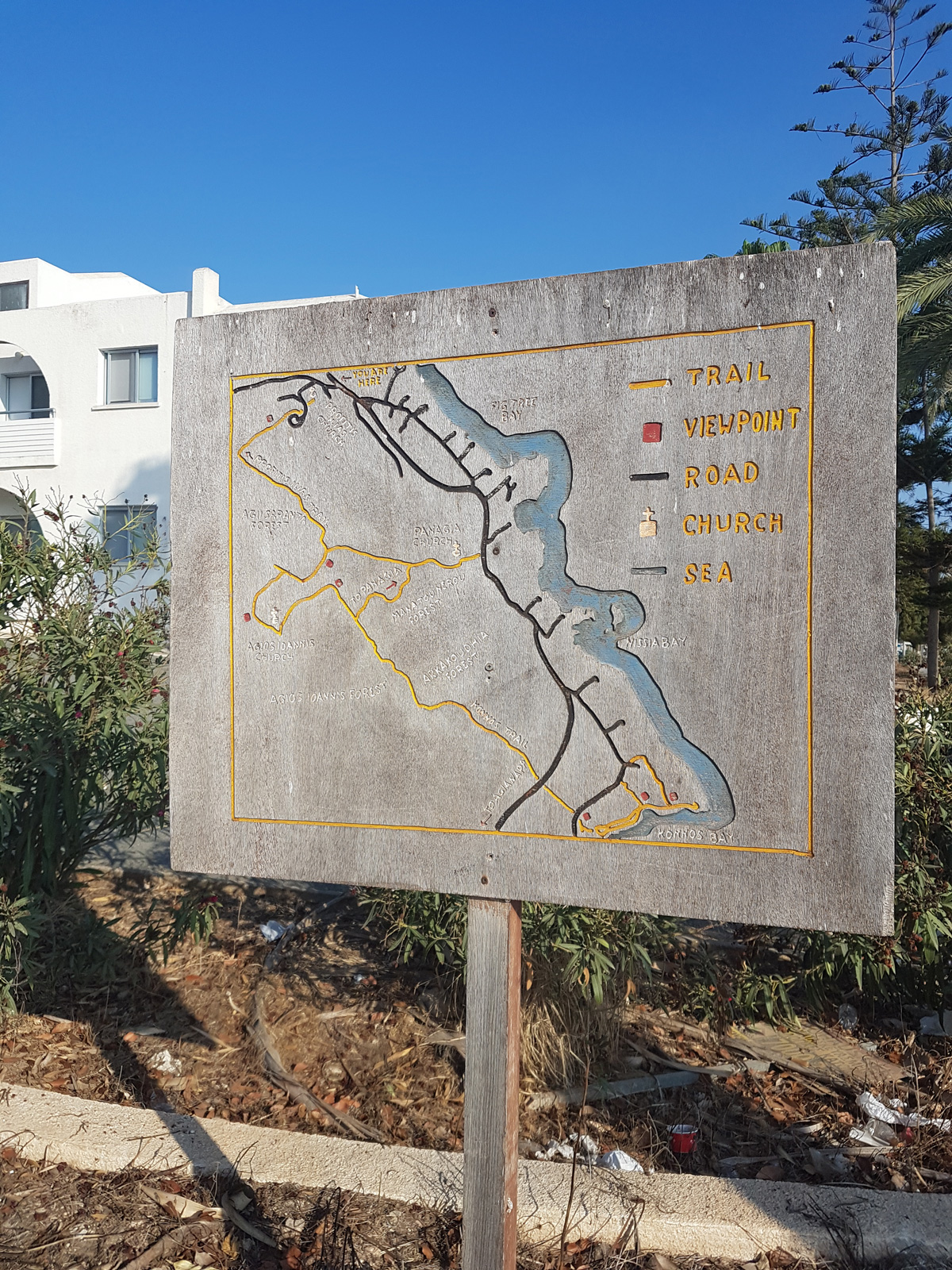 Protaras Coast Trail Map | Chapel of Prophet Elias in Protaras Cyprus