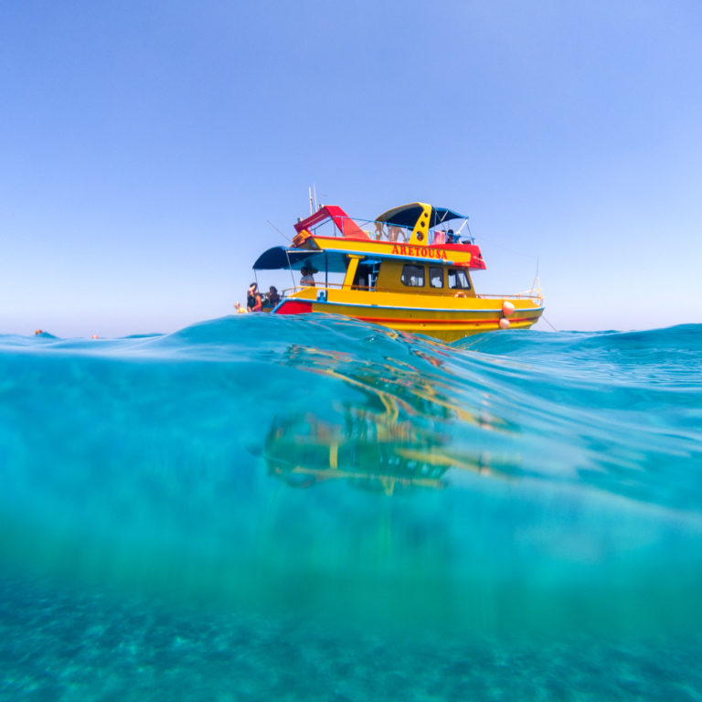Boat Trip With Yellow Boat Aretousa Cyprus