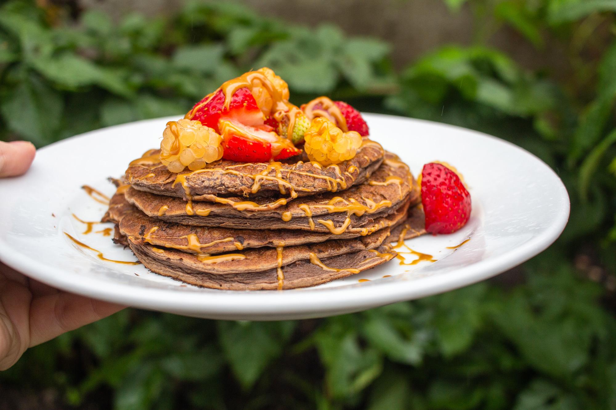 Pancakes made ith protein powder