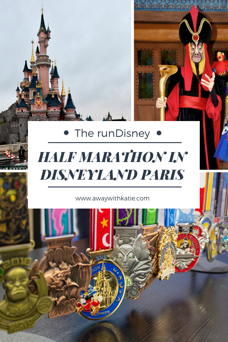 The runDisney Half Marathon in Disneyland Paris | Running through the Disneyland Parks and meeting characters | www.awaywithkatie.com