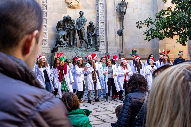 Christmas choir singing