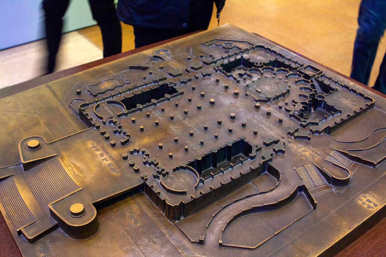 Flat model of the inside structure of Sagrada Familia