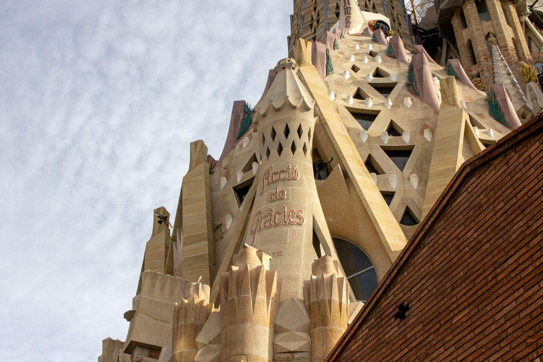 Outside of the Sagrada Familia.