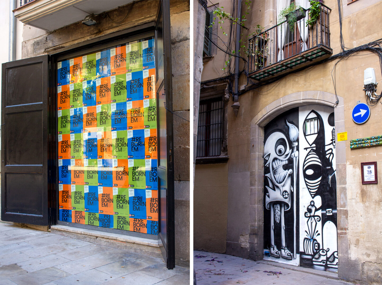 Born District Art and cartoon street art.