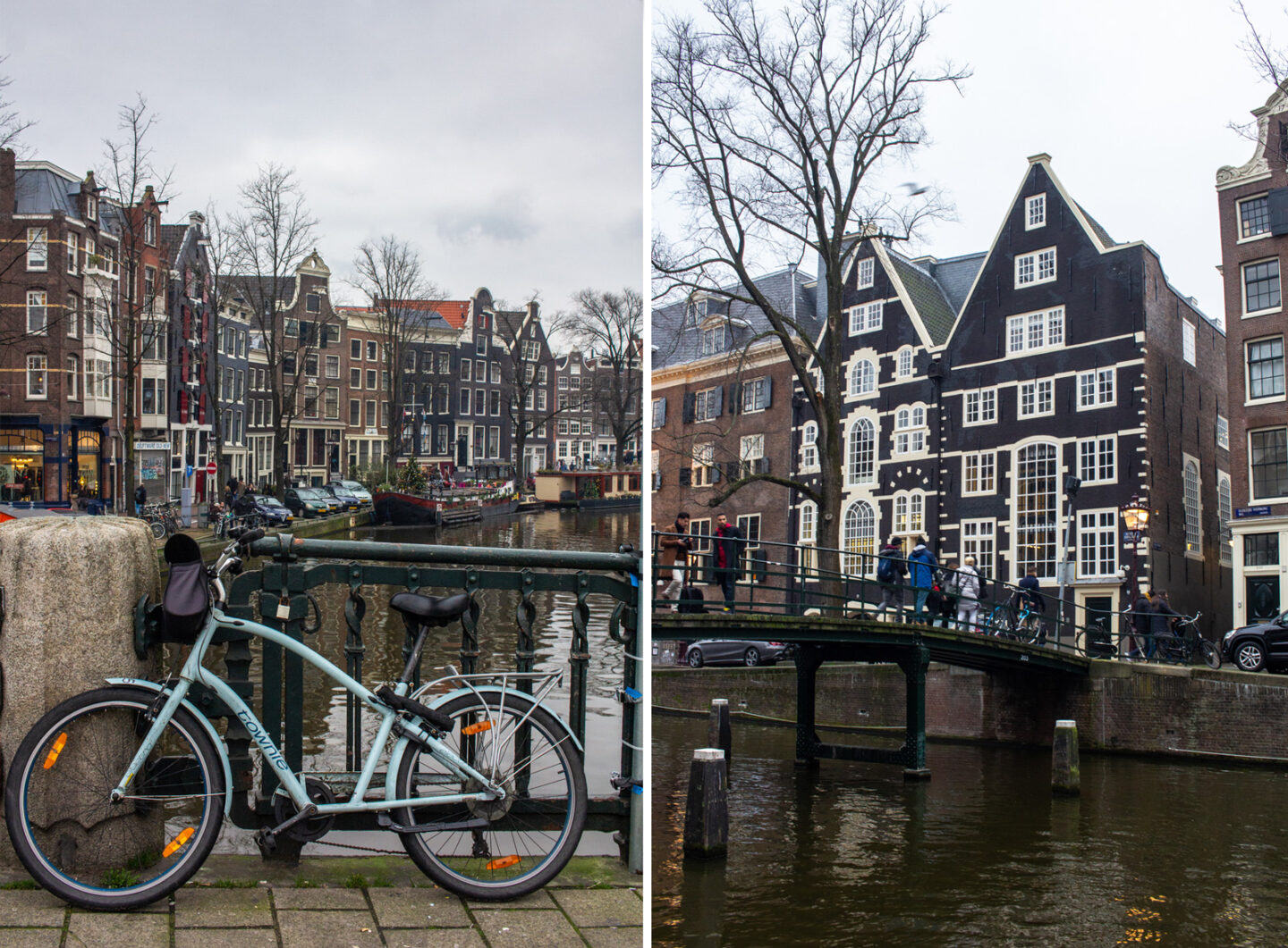 Canal and house views in Amsterdam