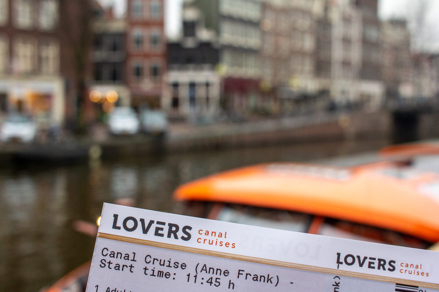 Lovers Canal Cruises in Amsterdam Ticket