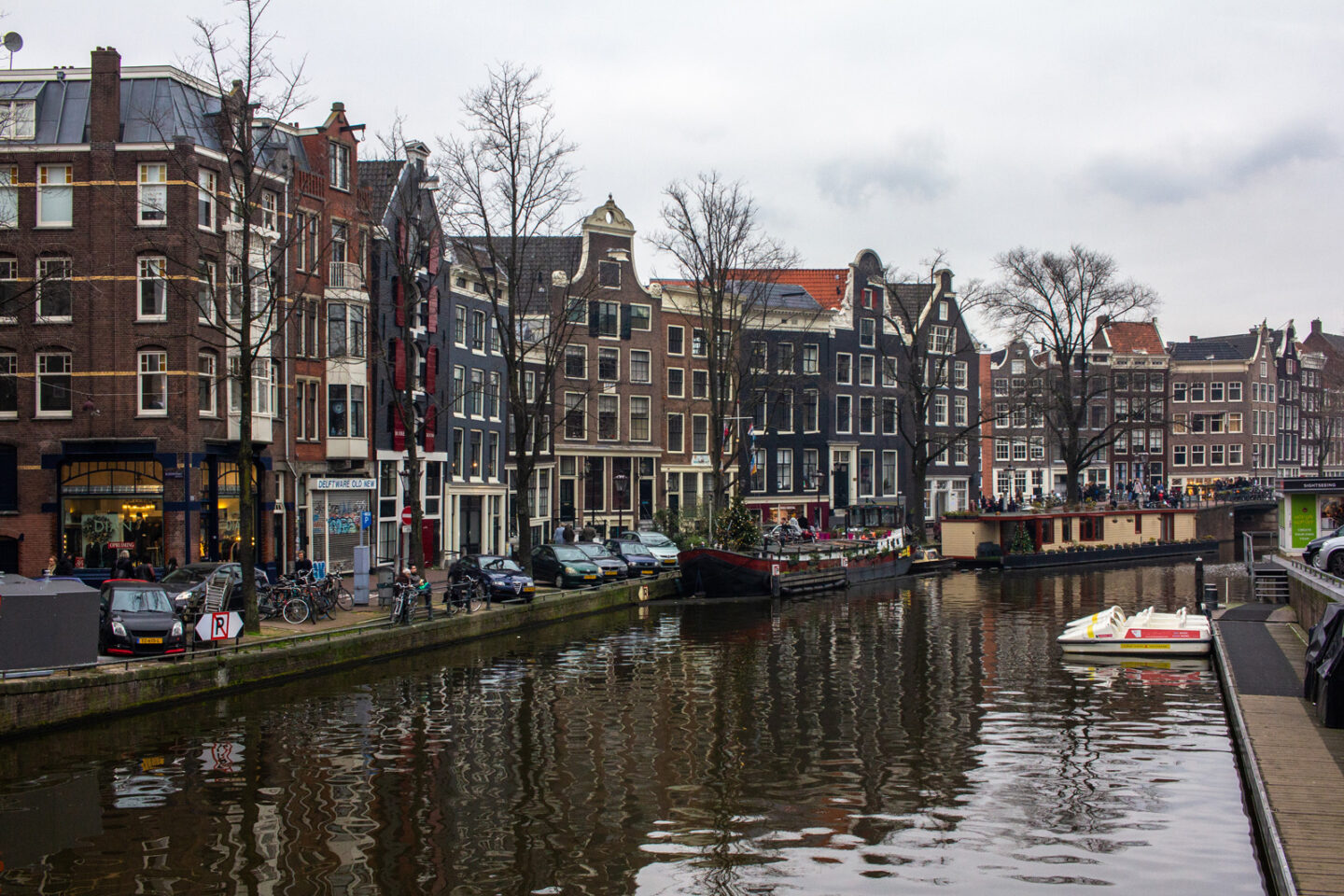 View of Amsterdam houses along canal | 9 Things Discovered Whilst In Amsterdam