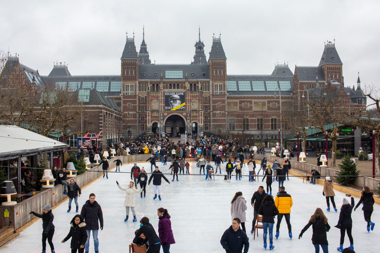 Ice Rink in front of Rijkmuseum