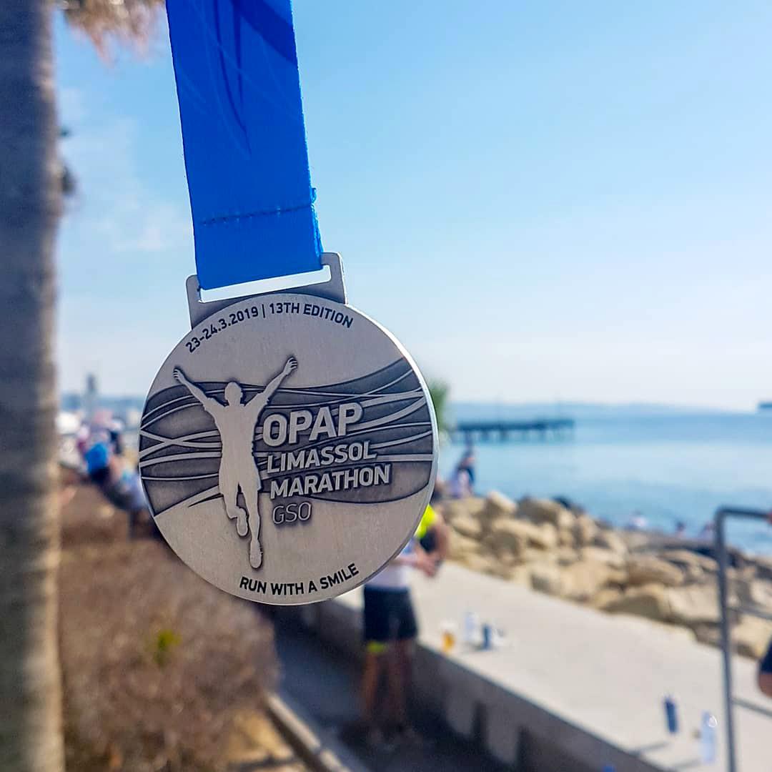 OPAP Limassol Marathon GSO Race Medal - Petrolina 10km Energy Race